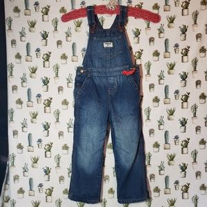 Toddler 4t Oshkosh B'gosh fleece lined overalls